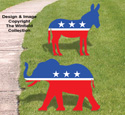 Politcal Symbols Woodcraft Pattern
