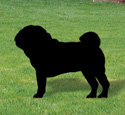 Pug Shadow Woodcraft Pattern