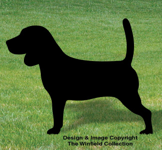Beagle Shadow Woodcraft Pattern