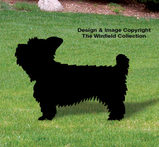 Yorkshire Terrier Shadow Wood Pattern