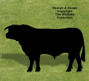 Hereford Bull Shadow Woodcraft Pattern