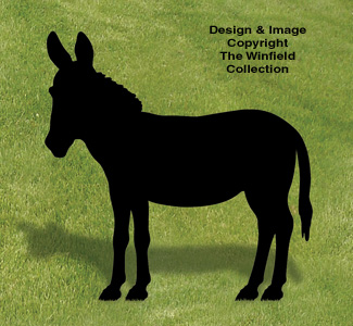 Donkey Shadow Woodcraft Pattern