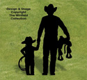 Cowboy and Son Shadow Wood Pattern