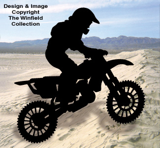 Motocross Shadow Woodcraft Pattern