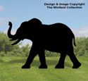 Large Elephant Shadow Wood Pattern