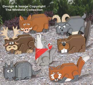 Wild Animal Patio Paver Pals Pattern Set