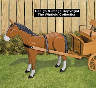 3D Animal Project Patterns - Hay Wagon Horse Wood Pattern