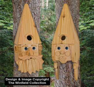 Gnome Couple Birdhouse Pattern