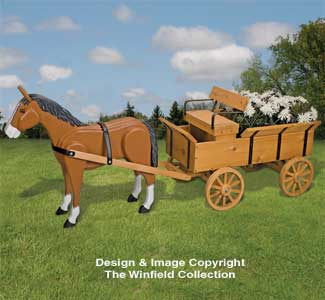 Horse & Hay Wagon Planter Pattern Set