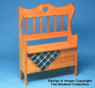 Country Hall Seat Woodworking Plan