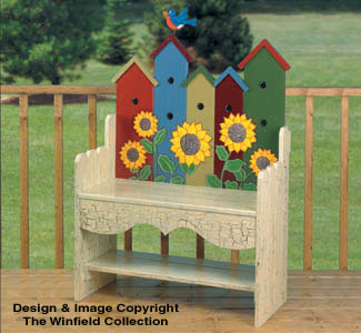 Birdhouse Bench Woodworking Plan