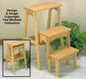 Three Step Fold Up Stool Wood Plan