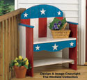 Patriotic Bench Wood Plans