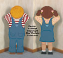 Pouting Boy & Girl Woodcraft Pattern Set