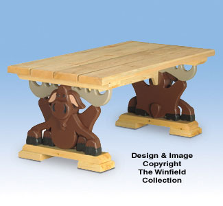 Moose Coffee Table Wood Project Plan