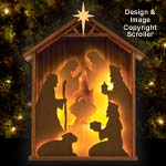 Lighted Shelf Nativity Pattern
