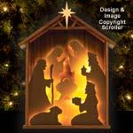 Lighted Shelf Nativity Pattern