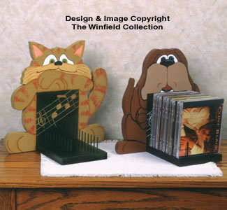 Dog & Cat CD Holders Pattern