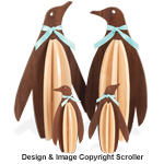Slotted Penguin Family Shelf Sitters Pattern