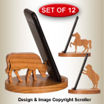 Farm Animal Cell Phone Stands Pattern Set
