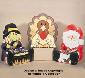 Holiday Baskets Woodcraft Pattern
