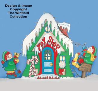 Santa's Toy Shop Woodcrafting Pattern