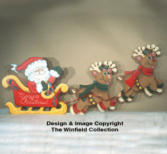 Santa's Sleigh Ride Woodcraft Pattern