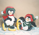 North Pole Penguins Woodcraft Pattern
