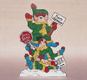 Elf Greeting Committee Wood Pattern