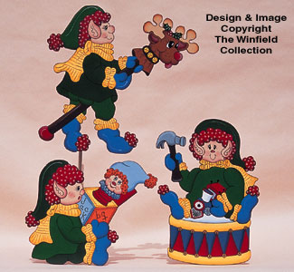 Santa's Elfin Daycare Woodcraft Pattern