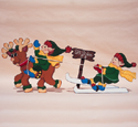 Dancers Ski Tow Wood Pattern