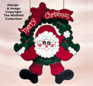 Swinging Wreath Santa Pattern