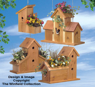 Cedar Birdhouse Planters Wood Plan