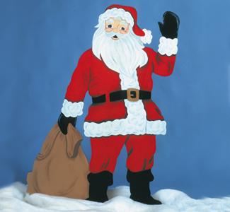 Life-Size Santa Color Poster