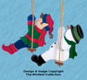Swingin' Elf & Snowman Wood Pattern