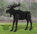 All-Weather Black Large Moose Yard Display