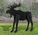 All-Weather Black Large Moose Yard Display