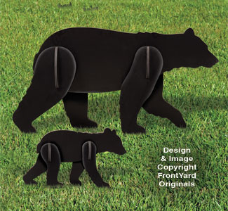 All-Weather Black Bear and Cub Yard Display