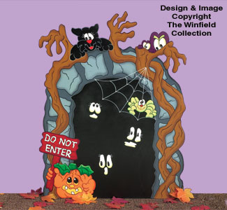 Haunted Train Tunnel Woodcraft Pattern