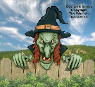 Large Scary Witch Woodcraft Pattern