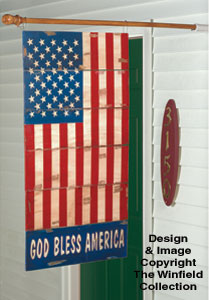 Americana Flag Woodcraft Pattern