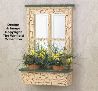 Rustic Window Planter Wood Planter