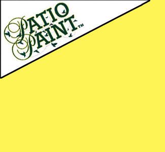 Sunshine Yellow Patio Paint