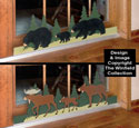 Bear & Moose Sliding Door Locks Pattern