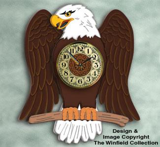 Majestic Eagle Wall Clock Woodcraft Plan