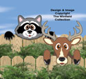 Deer & Coon Fence Peekers Wood Pattern