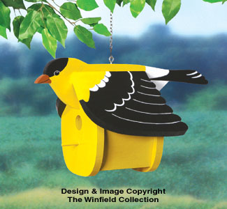 Goldfinch Birdhouse Wood Project Pattern