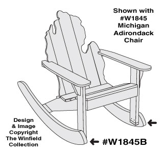 Optional Adirondack Chair Rockers Pattern