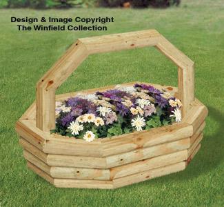 Landscape Timber Oval Basket Planter Plans