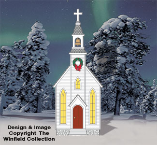 Giant County Church Woodcraft Pattern